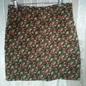 Jones New York Women's Corduroy Floral Skirt